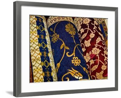 Goods at the Grand Bazaar, Istanbul, Turkey-Joe Restuccia III-Framed Photographic Print