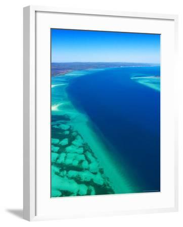 Great Sandy Straits and Fraser Island , Queensland, Australia-David Wall-Framed Photographic Print