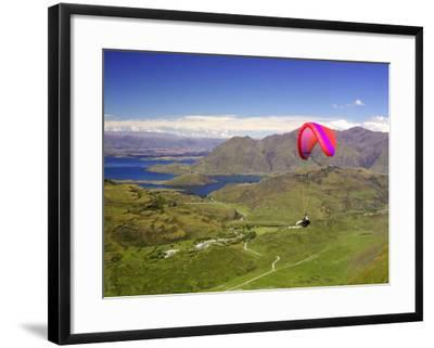 Paraglider, South Island, New Zealand-David Wall-Framed Photographic Print