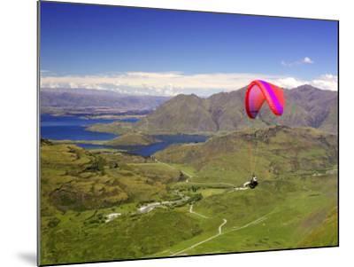 Paraglider, South Island, New Zealand-David Wall-Mounted Photographic Print