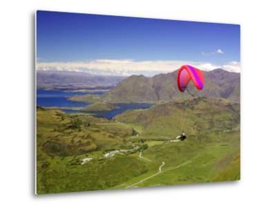 Paraglider, South Island, New Zealand-David Wall-Metal Print