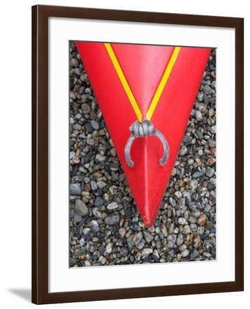 Detail of Red Kayak-David Wall-Framed Photographic Print
