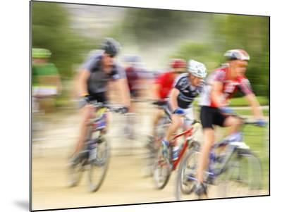 Mountain Bike Race, Bannockburn, near Cromwell, Central Otago, South Island, New Zealand-David Wall-Mounted Photographic Print