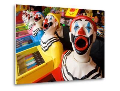 Laughing Clowns Side-Show, Rotorua, Bay of Plenty, North Island, New Zealand-David Wall-Metal Print