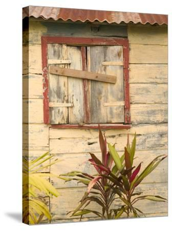 Weathered Cottage of Marie-Galante Island, Guadaloupe, Caribbean-Walter Bibikow-Stretched Canvas Print