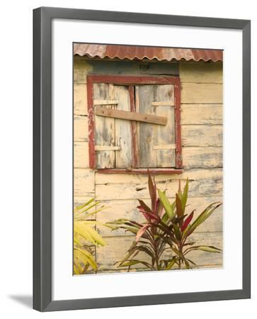 Weathered Cottage of Marie-Galante Island, Guadaloupe, Caribbean-Walter Bibikow-Framed Photographic Print