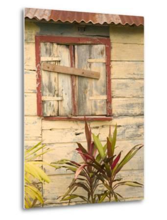 Weathered Cottage of Marie-Galante Island, Guadaloupe, Caribbean-Walter Bibikow-Metal Print