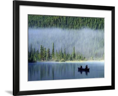 Boys Fishing on Waterfowl Lake, Banff National Park, Alberta, Canada-Janis Miglavs-Framed Photographic Print