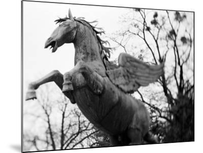Winged Horse Statue, Mirabellgarten, Salzburg, Austria-Walter Bibikow-Mounted Photographic Print