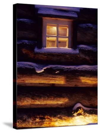 Finnish's Window, Lapland, Finland-Daisy Gilardini-Stretched Canvas Print