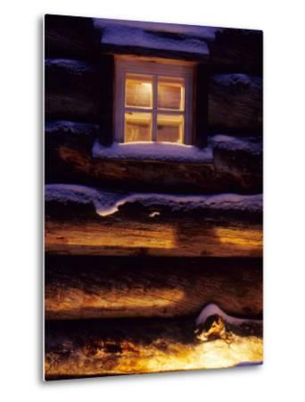 Finnish's Window, Lapland, Finland-Daisy Gilardini-Metal Print