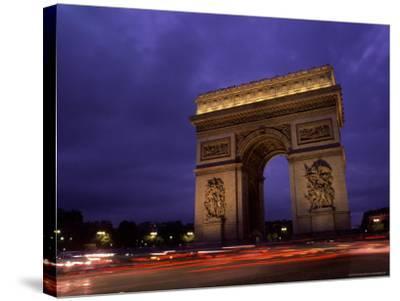Arc de Triomphe, Champs-Elysees, Paris, France-Bill Bachmann-Stretched Canvas Print