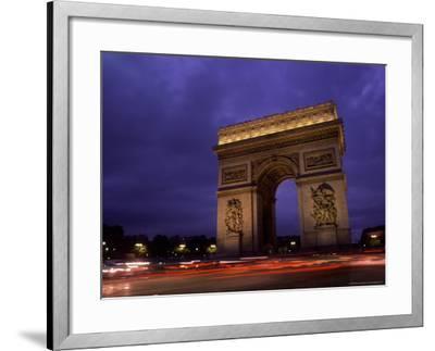 Arc de Triomphe, Champs-Elysees, Paris, France-Bill Bachmann-Framed Photographic Print