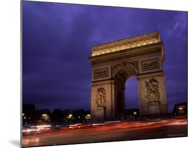 Arc de Triomphe, Champs-Elysees, Paris, France-Bill Bachmann-Mounted Photographic Print