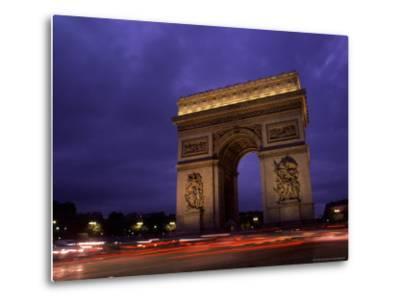 Arc de Triomphe, Champs-Elysees, Paris, France-Bill Bachmann-Metal Print