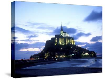 Mont St. Michel Fortress, Normandy, France-Bill Bachmann-Stretched Canvas Print