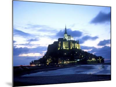 Mont St. Michel Fortress, Normandy, France-Bill Bachmann-Mounted Photographic Print