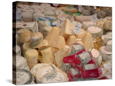 Cheese Variety in Shop, Paris, France-Lisa S^ Engelbrecht-Stretched Canvas Print