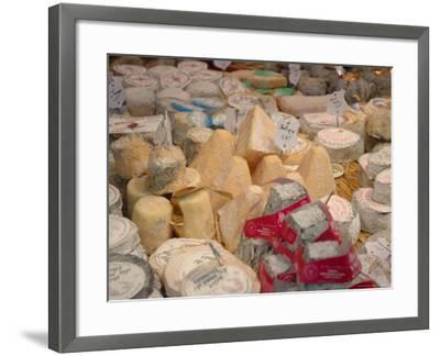 Cheese Variety in Shop, Paris, France-Lisa S^ Engelbrecht-Framed Photographic Print