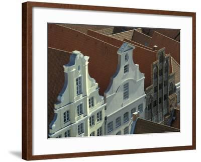 Buildings, Roofs and Facades, Lubeck, Germany-Michele Molinari-Framed Photographic Print
