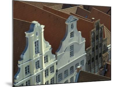 Buildings, Roofs and Facades, Lubeck, Germany-Michele Molinari-Mounted Photographic Print