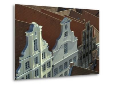 Buildings, Roofs and Facades, Lubeck, Germany-Michele Molinari-Metal Print