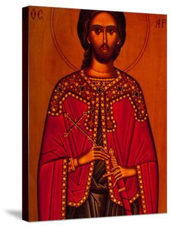 Greek Icon Souvenirs For Sale, Athens, Greece-Walter Bibikow-Stretched Canvas Print