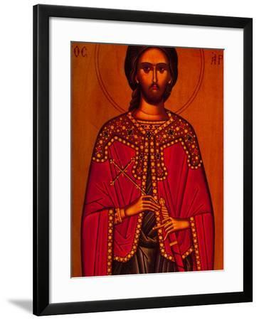 Greek Icon Souvenirs For Sale, Athens, Greece-Walter Bibikow-Framed Photographic Print