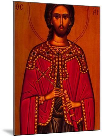 Greek Icon Souvenirs For Sale, Athens, Greece-Walter Bibikow-Mounted Photographic Print