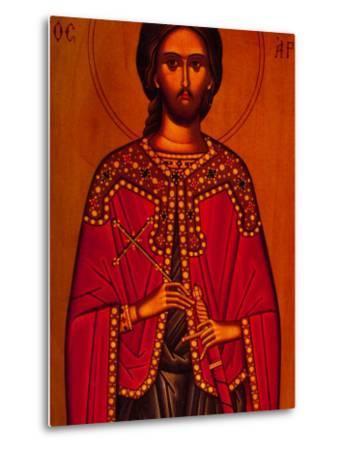 Greek Icon Souvenirs For Sale, Athens, Greece-Walter Bibikow-Metal Print