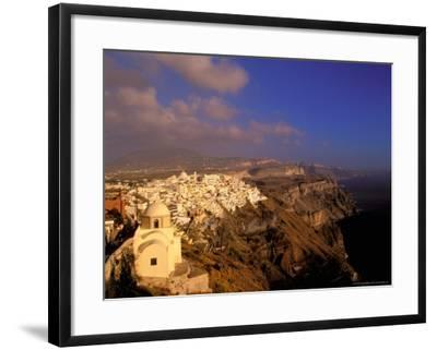 Late Afternoon View of Town, Thira, Santorini, Cyclades Islands, Greece-Walter Bibikow-Framed Photographic Print
