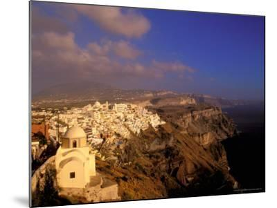Late Afternoon View of Town, Thira, Santorini, Cyclades Islands, Greece-Walter Bibikow-Mounted Photographic Print