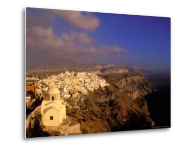 Late Afternoon View of Town, Thira, Santorini, Cyclades Islands, Greece-Walter Bibikow-Metal Print