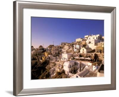 Old Town in Late Afternoon, Santorini, Cyclades Islands, Greece-Walter Bibikow-Framed Photographic Print