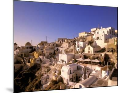 Old Town in Late Afternoon, Santorini, Cyclades Islands, Greece-Walter Bibikow-Mounted Photographic Print