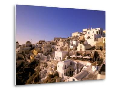 Old Town in Late Afternoon, Santorini, Cyclades Islands, Greece-Walter Bibikow-Metal Print