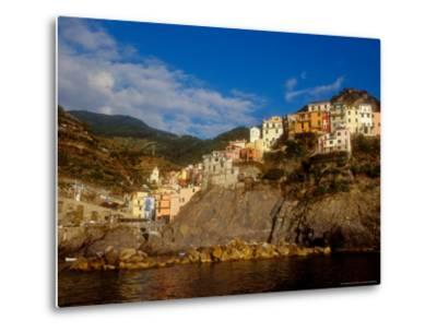 View of Manarola, Cinque Terre, Italy-Alison Jones-Metal Print