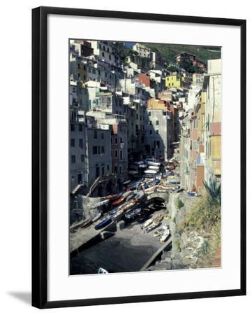 Boats on Downtown Shore, Cinque Terre, Italy-Greg Gawlowski-Framed Photographic Print