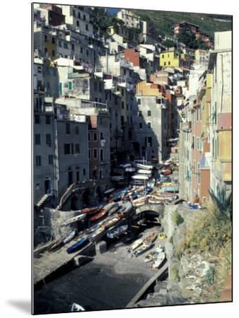 Boats on Downtown Shore, Cinque Terre, Italy-Greg Gawlowski-Mounted Photographic Print