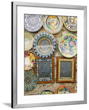 Ceramic Souvenirs, Ravello, Campania, Italy-Walter Bibikow-Framed Photographic Print