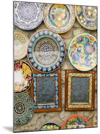 Ceramic Souvenirs, Ravello, Campania, Italy-Walter Bibikow-Mounted Photographic Print
