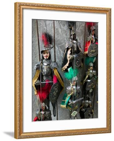 Knight Puppets, Corso Umberto 1, Taormina, Sicily, Italy-Walter Bibikow-Framed Photographic Print