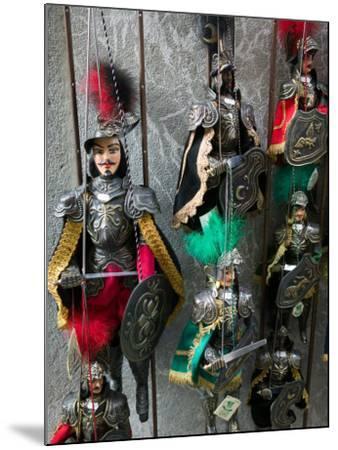Knight Puppets, Corso Umberto 1, Taormina, Sicily, Italy-Walter Bibikow-Mounted Photographic Print