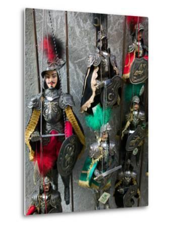 Knight Puppets, Corso Umberto 1, Taormina, Sicily, Italy-Walter Bibikow-Metal Print