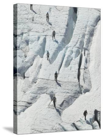 Glacier Hikers on Folgefonna Glacier, Norway-Russell Young-Stretched Canvas Print