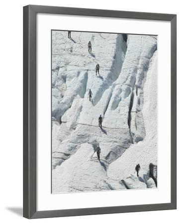 Glacier Hikers on Folgefonna Glacier, Norway-Russell Young-Framed Photographic Print