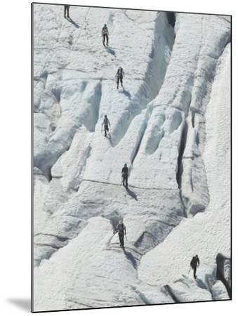 Glacier Hikers on Folgefonna Glacier, Norway-Russell Young-Mounted Photographic Print