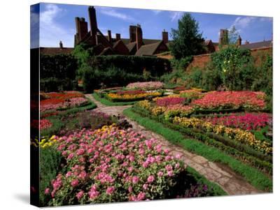 Elizabethan Knot Garden, Shakespeare's Home, Stratford-on-Avon, England-Nik Wheeler-Stretched Canvas Print
