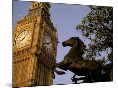 Big Ben Clock Tower, London, England-Walter Bibikow-Mounted Photographic Print