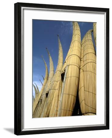 Reed Boats, Cabillitos de Totora, Huanchaco, Peru-Pete Oxford-Framed Photographic Print
